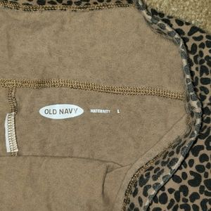 Old navy leopard maternity leggings size L